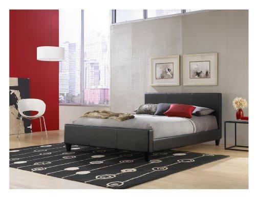 Leggett & Platt Fashion Bed Group Euro Platform Bed, Full, Black front-17952