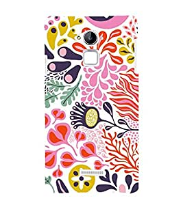 printtech Floral Pattern Design Back Case Cover for Coolpad Note 3