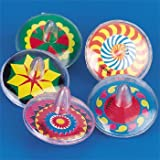 PLASTIC SPINNING TOP ASSORTMENT (6 DOZEN) - BULK
