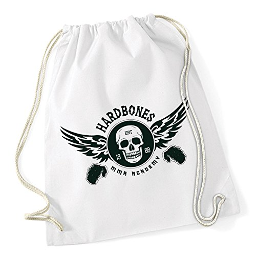 Hardbones Gym Borsa De Gym Bianco Certified Freak