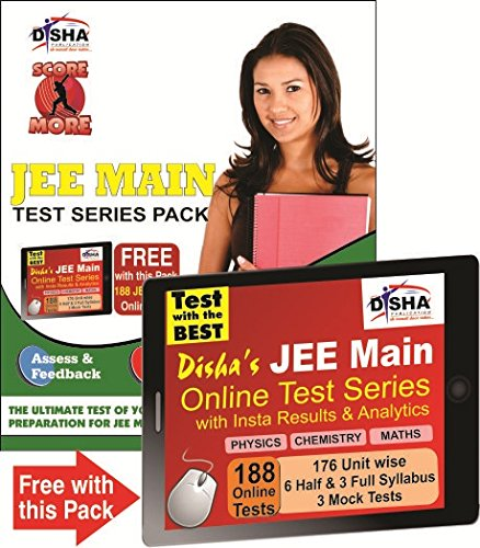 SCORE MORE - JEE MAIN TEST SERIES PACK (10 Mock Tests with Solutions) with 188 Online Tests of PCM worth Rs 999/-