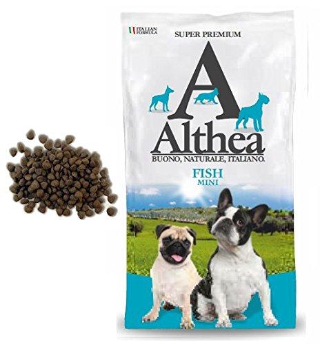 Althea Fish Mini 1 kg - Crocchette monoproteiche al pesce per cani di taglia piccola, naturali al 100%