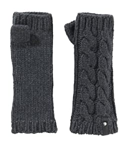 Marmot Women's Fingerless Mittens, Charcoal Heather, One Size