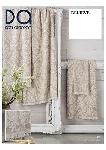 Don Algodon.- Set di 1 telo bagno e 2 asciugamani Lis beige