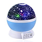 Waylee Himmel-Stern-Nachtlicht Sun und Stern-Beleuchtung Lampe 360 Grad Romantische Lamp