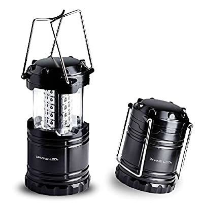 Ultra Bright LED Lantern - Best Seller - Camping Lantern - Collapses - Suitable for: Hiking, Camping, Emergencies, Hurricanes, Outages - Super Bright - Lightweight - Water Resistant - Black