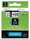 Dymo D1 40913 - Etiquetas adhesivas (9 mm), color negro sobre blanco