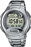 CASIO W-752D-1AVES - Reloj unisex de cuarzo, correa de acero inoxidable color plata
