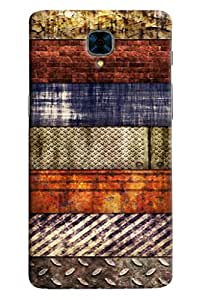 Omanm Different Pattern Rusted Designer Back Cover Case For OnePlus Three