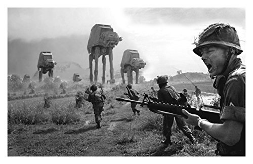 Star Wars Unsigned 11x17 Photograph Custom #3 Vietnam War vietnam the real war