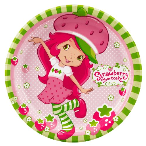 Strawberry Shortcake Dinner Plates Party Accessory