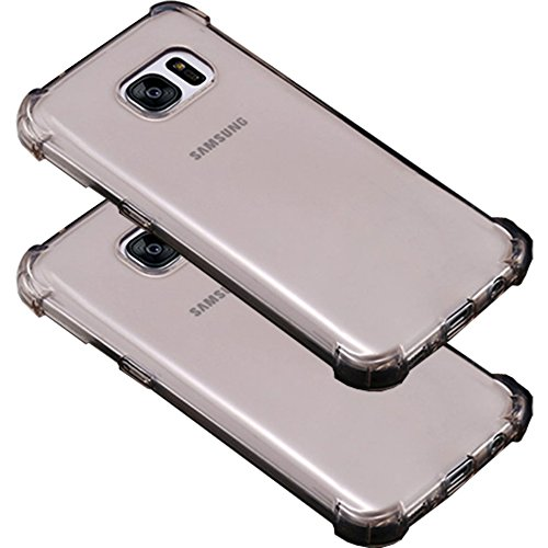 2Pack Galaxy S7 Edge Clear Case, ibarbe slim Fit Heavy Duty Protection Scratch Resistant TPU Bumper Case Cover for Samsung Galaxy S7 edge not for S7
