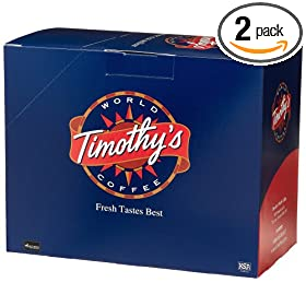 Timothy's World Coffee K-cups Cinnamon Pastry for Keurig Brewers, 24-Count, Boxes (Pack of 2)