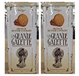 La Grande Galette French Butter Cookies: 2 Tins of 15.9 Oz