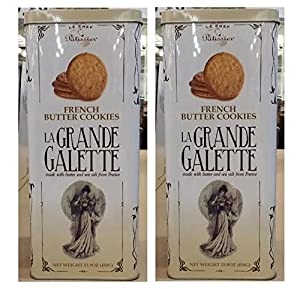 Amazon.com: La Grande Galette French Butter Cookies: 2 Tins of 15.9 Oz