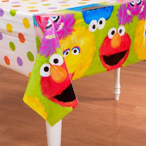 Sesame Street 1st Birthday Plastic Tablecover - 1