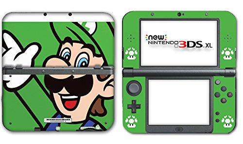 New Super Mario Bros Luigi Special Edition Video Game Vinyl Decal Skin Sticker Cover for the New Nintendo 3DS XL LL 2015 System (Super Mario And Super Luigi)