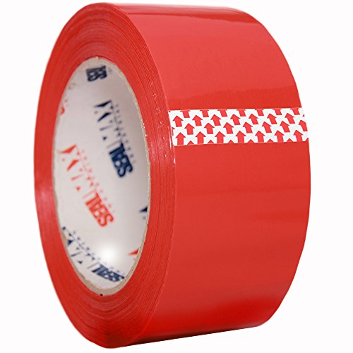 Packing Tape SealMax By TOTALPACK - Heavy Duty, Adhesive Acrylic Base Sticks On Any Surface - 2 Mil Thickness - 2 inches x 110 Yards - Meets All UPS & US Postal Regulations, Red Colored Tape, 1 Roll