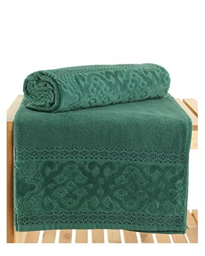 Maisonette Meltem 2-Piece Bath Towel Set, Dark Green