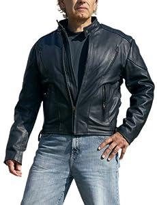 Interstate Leather Men's Touring Jacket (Black, XXXXX-Large)