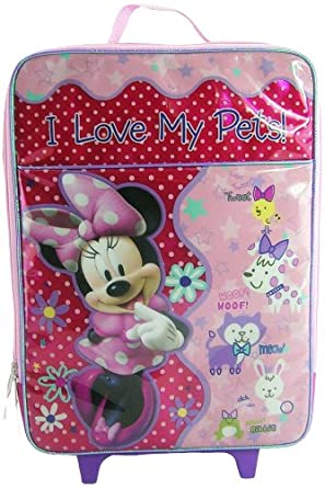 Disney Minnie Mouse Rolling Luggage, Pink, One Size