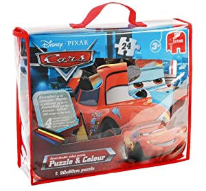 Disney Pixar Cars Puzzle and Colour 24 Piece Giant Jigsaw Puzzle (Incl. Crayons)