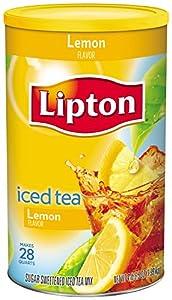 Lipton, Lemon Sweetened Iced Tea Mix, Makes 28 Quarts, 70.5 ounces (Pack of 2)
