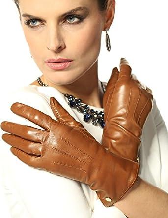 Elma Women's Touch Screen Italian Nappa Leather Winter