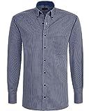 ETERNA Hemd Modern Fit Blau Karo Button-Down-Kragen 4227/17 X145