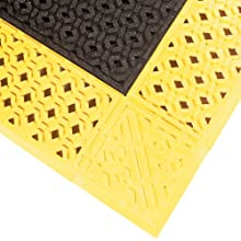 NoTrax PVC Vinyl 522 Cushion-Lok Anti-Fatigue Drainage Mat, for Wet Areas, Black