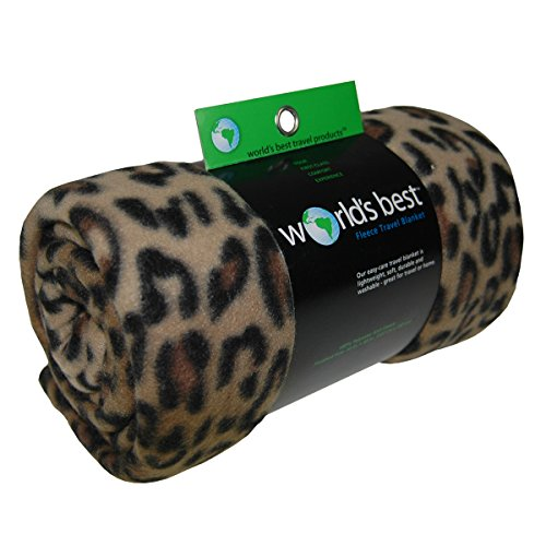 world 39 s best cozy soft microfleece travel blanket leopard home garden linens bedding bedding. Black Bedroom Furniture Sets. Home Design Ideas