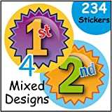 234 Sports Day Themed 1st, 2nd, 3rd, 4th Mixed school Teacher Reward stickers