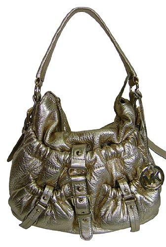 Michael Kors Jennings Medium Hobo Shoulder Bag Gold