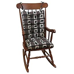 Klear Vu Gripper Rocking Chair Pad in Animal Plaid