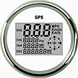 ELING Waterproof Digital GPS Speedometer Odometer Trip Meter Course for Auto Marine Truck with Backlight 3-3/8'' (85mm)