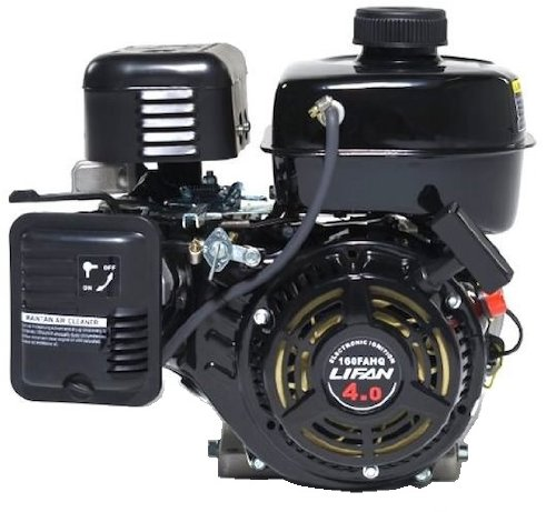 "Lifan Lf160F-Ahq 4 Hp 118Cc 4-Stroke Ohv Industrial Grade Gas Engine With 6:1 Gear Reduction And 3/4"" Keyway Shaft, Recoil And Start Universal Mounting Pattern"