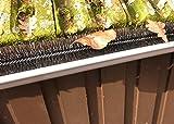 1,2m Dachrinnenbürste Regenrinneraupe Rinnenbürste Rinnenigel Laubschutz Blätter Schutz Marder Dachrinne Bürste Ø 5 cm
