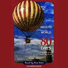 Around the World in 80 Days (       UNABRIDGED) by Jules Verne Narrated by Jim Dale