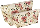 Cosmetic Bags, Makeup, Travel, 100% Cotton, Set Of 2 (Vintage Floral)