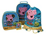 Official Peppa Pig George Pig 4 Piece Holiday Luggage Set Suitcase Trolley Travel Drawstring Purse Wallet Coin Pouch Bag Back To School