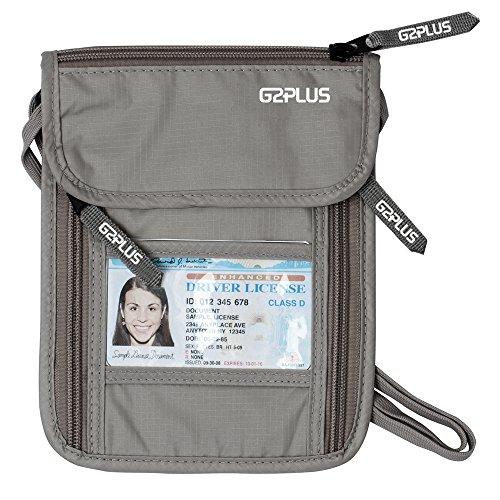 G2PLUS BrustbeutelBrusttasche Reisegeldbeutel mit...