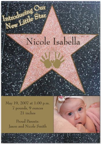 Baby Girl Photo Birth Announcements front-599142