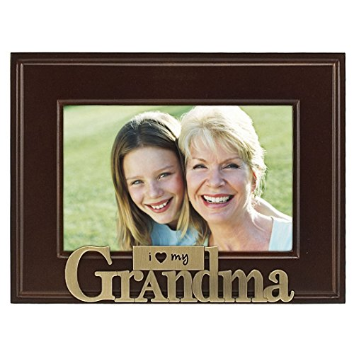Malden International Designs I Heart Brass Word Grandma Picture Frame, 4x6, Brass (Grandma Photo Frame compare prices)