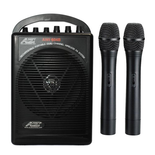 Audio2000S Wp-604B/H Dual Channel Handheld Wireless Microphone Portable Pa System