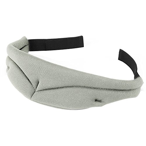 PLEMO 立体型睡眠アイマスク 男女兼用 超ソフト睡眠 旅行に最適 (ライトグレー)