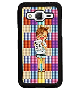 PrintDhaba Shouting Girl D-2608 Back Case Cover for SAMSUNG GALAXY CORE PRIME (Multi-Coloured)