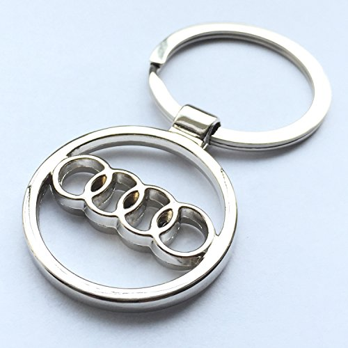 itech-r-audi-chrome-metal-car-logo-keyring-key-fob-keychain