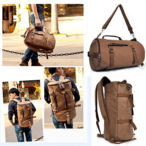 3 in 1 Pro-Multifunction Retro Style Canvas Backpack Casual Daypack Trekking Rucksack Handbag Satchel Tote Shoulder...