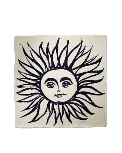Balenciaga Women's Sunburst Scarf, White