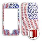 Apple iPhone 4 - 4S (AT&T/Verizon/Sprint) Full Diamond Crystal USA Flag iPhone 4 Hard Case/Cover/Faceplate/Snap On/Housing/Protector